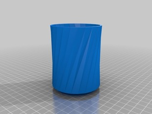 Twisted Triangular Beaker (cup)