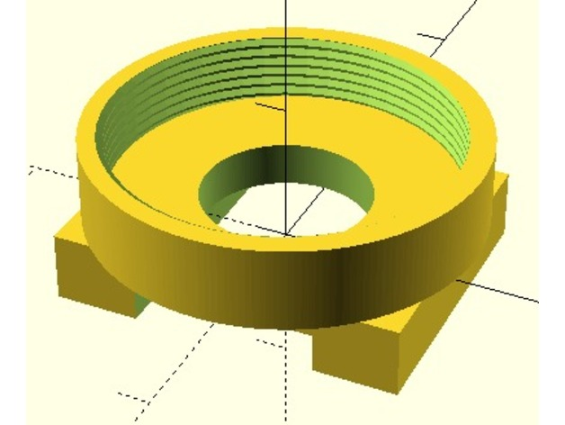 Raspberry Pi CS lens mount adapter by sej7278 - Thingiverse