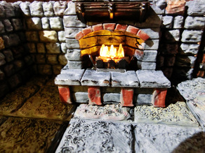 Lighted Fireplace for RPG - Cheminee Eclairable RPG