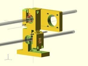 Dual hobbed bolt extruder V2