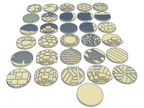 32mm Round Bases (x31) for Warhammer 40k or Dungeons & Dragons tabletop Miniatures
