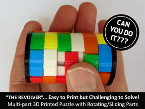 "The ""Revolver""... easy to print but challenging to solve!"