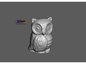 Owl Sculpture 3D Scan