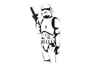 Stormtrooper Wall Stencil 2