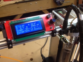 2004 LCD mount for a Folger RepRap 2020 Prusa i3