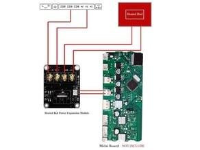 Wanhao Duplicator i3 v2 / v2.1 MOSFET Halter / Duplicator i3 Heatbed Expander Holder