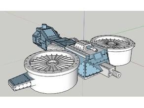 28mm Space Dwarf Gyrocopter
