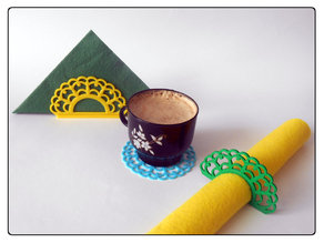 "Napkins holder ""Lace"""