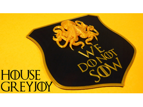 Game of Thrones House Greyjoy Shield Remix
