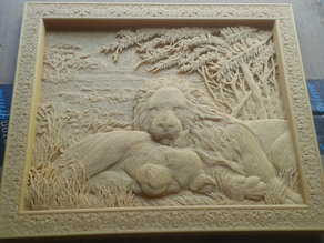 Frame two lions