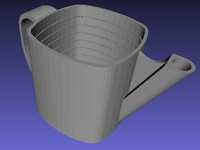 measuring cup with handle and spout