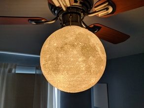 11+inch Moon Lamp for Ceiling Fan (3.75-inch Collar)