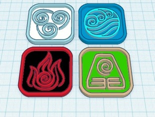 water, earth,fire,air-only the avatar
