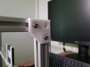 2020 small bracket with hole for corner mount