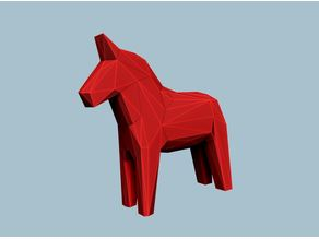 Low poly dala horse