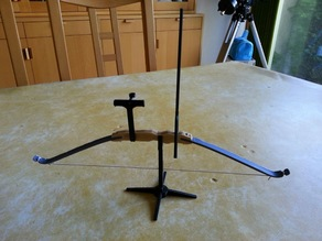 Recurve bow on its stand