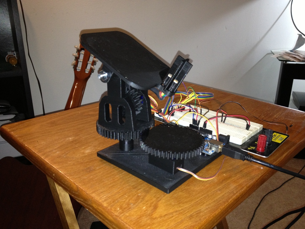 Dual Axis Solar Tracker by OpenSourceClassroom - Thingiverse