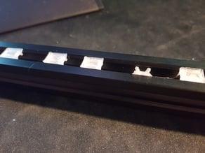 V-Slot flush cable cover