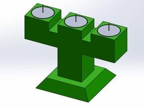 3 Candle Holder Te Light (Candelabro de 3 velas de te)