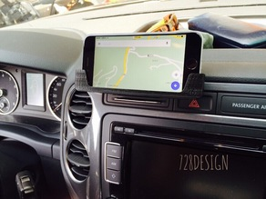 iPhone 6 Plus holder on VW Tiguan