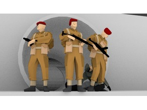War Age - British SAS Scenery Low Poly