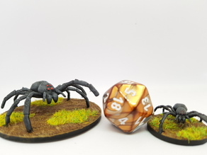Giant spider for 28mm tabletop gaming