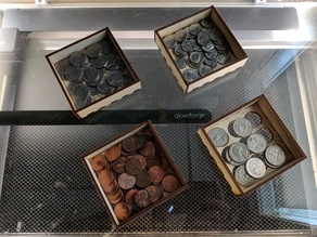 laser cut stacking coin sorter