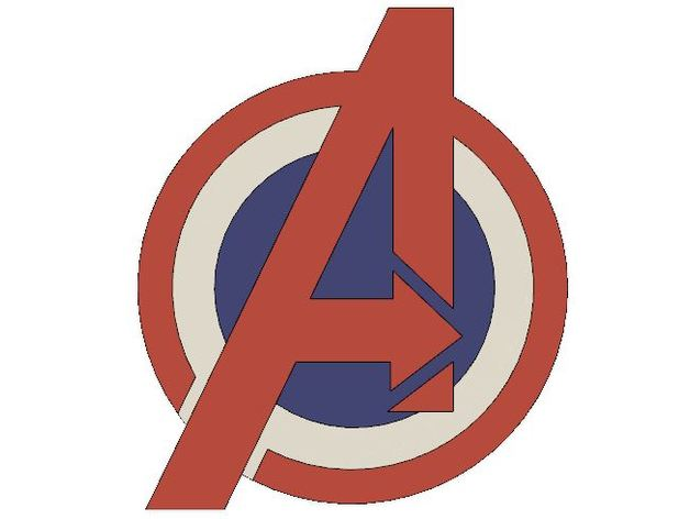avengers symbol - captain america style by sneener5