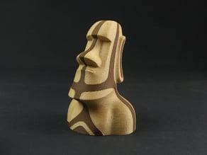 Easter Island Moai - Dual extrusion style