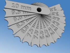 Radius gauge