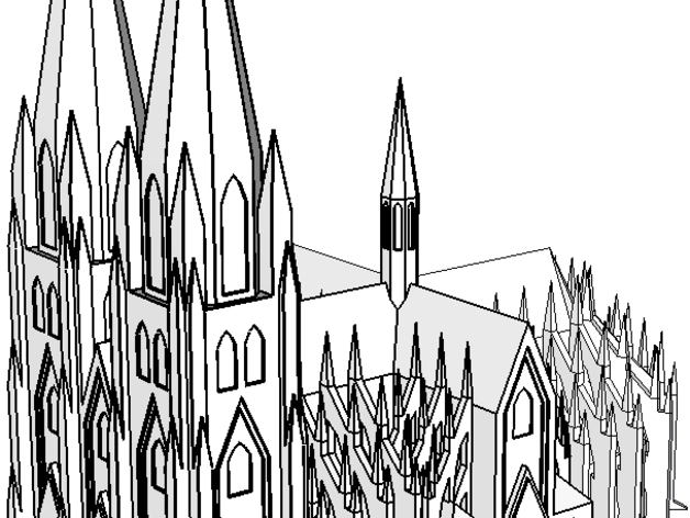 Kolner Dom Cologne Cathedral By Micholas Thingiverse