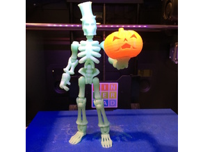 Glow-in-the-dark, poseable Skeleton w/ extras