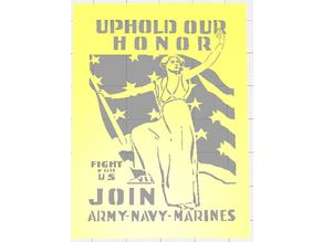 WW1 USA RECRUITMENT POSTERS COMMEMORATING 100 YEARS ANNIVERSARY OF ARMISTICE DAY STENCILS SET OF SIX VOL  2
