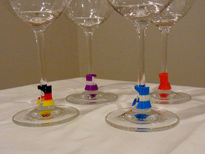 Wine Glass Marker - Subtle, practical and stylish 3D printing talking point!