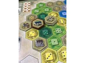 The Castles of Burgundy Board Game - Hex Token Capsules
