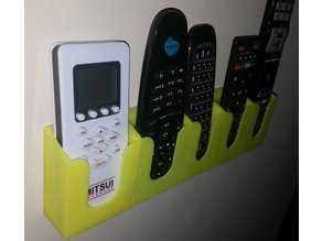 Modular Expandable Remote Control Wall Mount Rack
