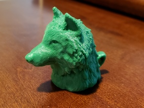 Wolf Head Keychain (Pencil Topper)