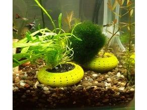 Aquarium plant pot