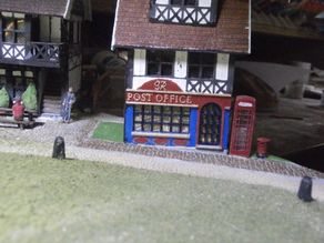 SCALEPRINT POST OFFICE SHOP FRONT AND POST BOX 00/HO SCALE