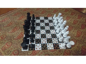 spiral chess board