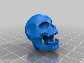 Tinkercad skeleton head
