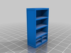Board Games Props - Bookshelf with drawers