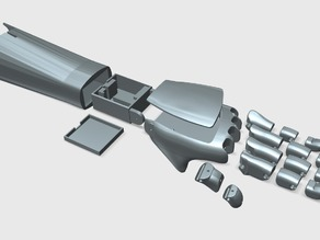 FunMove Hand (Electronic Prosthetic Hand) - 1 Servo Motorization_ver.KKB