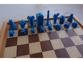 Dr Who chess pieces