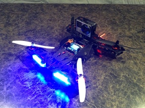 Quanum Neon quadcopter GoPro mounts