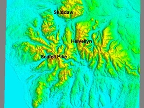 UK Lake District Relief Map