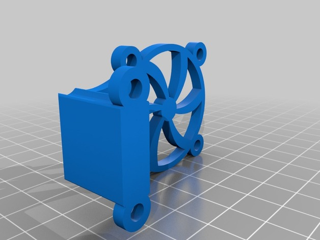 Extruder Deep Fan Mount Printrbot Simple