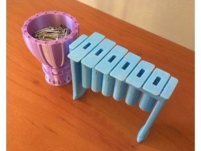 Marimba USB Drive Holder and Drum Paper Clip Holder