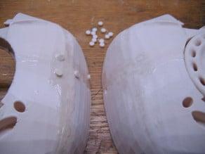 InMoov Skull Screw Hole Filler Dots
