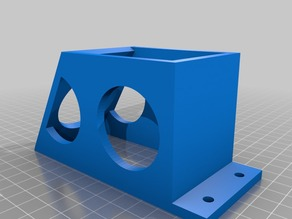 3d Printer Friendly - Rostock Max EZStruder Top Plate Mount and Spool Holder
